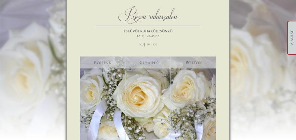Esküvői honlap referencia kép